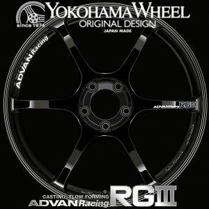 ADVAN Racing RG3 RGIII アルミホイール 18×9.5J 5/100 +45 レーシンググロスブラック|howars
