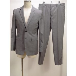 →○ Burberry London スーツ グレー チェック柄 48R イタリア製|howmuch