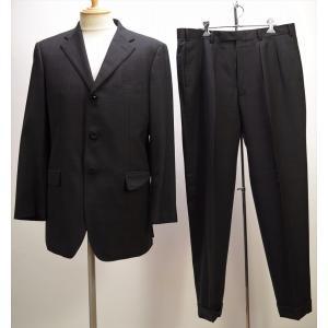 →☆ BURBERRY BLACK LABEL バーバリーブラックレーベル シングルセットアップスーツ 上下セット 黒 チェック柄 42L super 100|howmuch