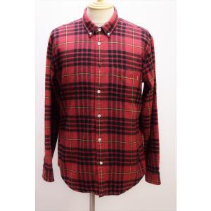 →☆ Supreme シュプリーム ネルシャツ チェック柄 赤 L 長袖 綿 100% ワングラム ボタンダウン|howmuch