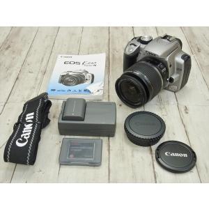 ○ Canon 一眼レフカメラ EOS Kiss Digital N DS126071 18-55mm 1:3 5-5 6is 800万画素  2005年製 キヤノン 1811LR107