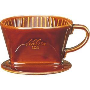 【数量限定特価】カリタ(Kalita) コーヒードリッパー 陶器製 1~2人用 101-ロト ブラウン #01003 hows-yho