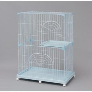【発売元】 アイリスオーヤマ  【商品説明】 猫の飼育に適した、余裕のある2段タイプのケージです。移...