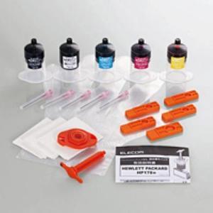 【発売元】 エレコム  【商品説明】 美しい仕上がりを実現する、HPプリンタ用の5色カラーがセットに...