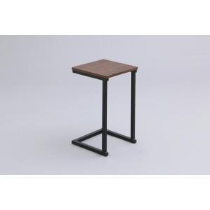 アイリスオーヤマ サイドテーブル ブラウンオーク/ブラック 幅29cm SDT-29|hows-yho
