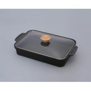 アイリスオーヤマ グリルパン ブラック 37.2×22.3×6cm スキレットコート IH対応 SKL-G hows-yho