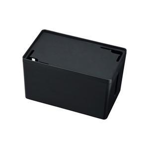 サンワサプライ ケーブル&タップ収納ボックス Sサイズ ブラック CB-BOXP1BKN2