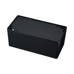 サンワサプライ ケーブル&タップ収納ボックス Mサイズ ブラック CB-BOXP2BKN2