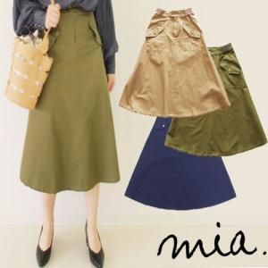 【2点以上お買い上げで10%オフ対象商品】mia(ミア) レディースファッション BIGポケットスカート|hows-yho