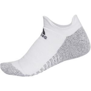adidas(アディダス) ALPHASKINグリップ フルクッション アンクルソックス 男女兼用・ジュニア ランニングソックス ECF26 CG2666 WHT/BLK 2628|hows