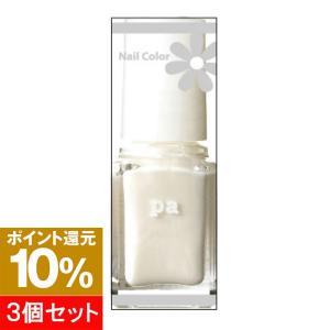 【ポイント10倍】【3個セット】pa ネイルカラー A02 ホワイトパール 6ml hows