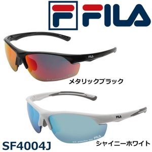FILA フィラ スポーツサングラス ミラータイプ SF4004J 10・メタリックブラック|hows