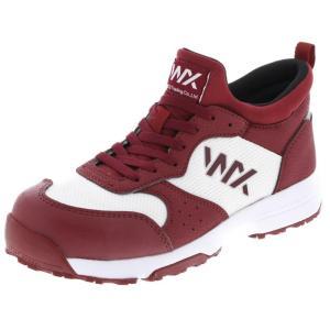 アシックス商事 TEXCY WX(テクシーワークス) 安全靴 プロテクティブスニーカー メンズ WX-0003 バーガンディ 25.0cm|hows
