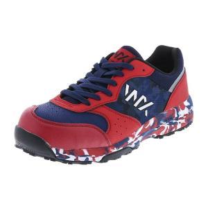アシックス商事 TEXCY WX(テクシーワークス) 安全靴 プロテクティブスニーカー メンズ WX-0001 ネイビー/レッド 28.0cm|hows