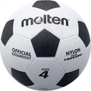 モルテン Football 亀甲ゴムサッカーボール F4W 白×黒
