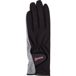 SRIXON(スリクソン) 【レディース テニス用手袋】 テニスグローブ 両手セット レディス SGG0730 ブラツク M