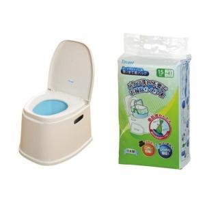 テイコブ(TacaoF) ポータブルトイレ+使い捨て紙バッグセット THT14-XX