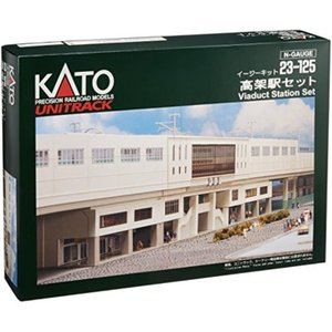 【発売元】 KATO  【商品説明】 高架駅舎を中心に、高架駅店舗、高架駅プレートをセットして、20...