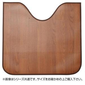 木目調消臭トイレマット ニオクリン 約60×60cm BR 350114629