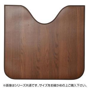木目調消臭トイレマット ニオクリン 約60×90cm DBR 350114658