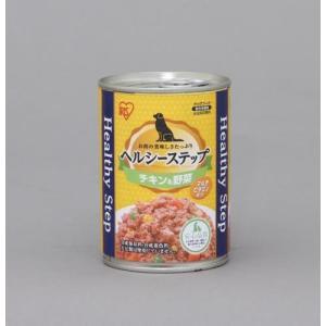 【数量限定特価】アイリスオーヤマ ヘルシーステップ 缶詰 ドックフード チキン&野菜 375g P-HLC-CV|hows