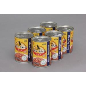 【数量限定特価】アイリスオーヤマ ヘルシーステップ 缶詰 ドックフード ビーフ 6缶パック 375g×6 P-HLC-B×6|hows
