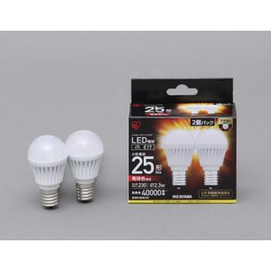アイリスオーヤマ LED電球 E17口金 2個セット 小形 ...