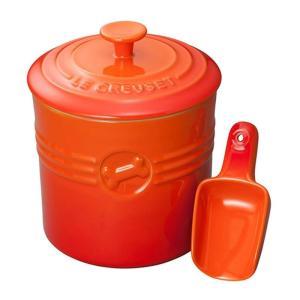 ル・クルーゼ(Le Creuset) ペットフード・コンテナー(スクープ付き) オレンジ 91041...