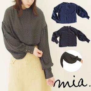 【2点以上お買い上げで10%オフ対象商品】mia(ミア) レディースファッション 水玉トップス hows