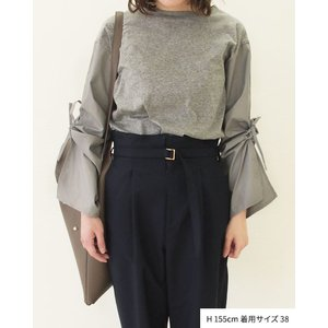 【2点以上お買い上げで10%オフ対象商品】mia(ミア) レディースファッション 袖リボンブラウス|hows|02