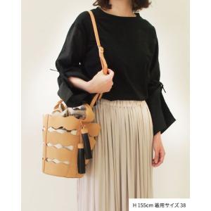 【2点以上お買い上げで10%オフ対象商品】mia(ミア) レディースファッション 袖リボンブラウス|hows|11