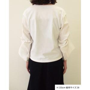 【2点以上お買い上げで10%オフ対象商品】mia(ミア) レディースファッション 袖リボンブラウス|hows|12