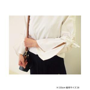 【2点以上お買い上げで10%オフ対象商品】mia(ミア) レディースファッション 袖リボンブラウス|hows|13