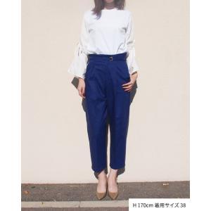 【2点以上お買い上げで10%オフ対象商品】mia(ミア) レディースファッション 袖リボンブラウス|hows|06