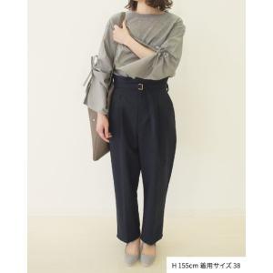 【2点以上お買い上げで10%オフ対象商品】mia(ミア) レディースファッション 袖リボンブラウス|hows|08
