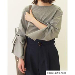 【2点以上お買い上げで10%オフ対象商品】mia(ミア) レディースファッション 袖リボンブラウス|hows|09