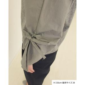 【2点以上お買い上げで10%オフ対象商品】mia(ミア) レディースファッション 袖リボンブラウス|hows|10