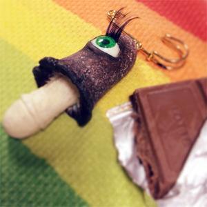 Eyeball Mushroom:ストールピン/ ササクレヒトヨ目玉茸:チョコ:ホイホイレコードだけ販売|hoyhoy-records