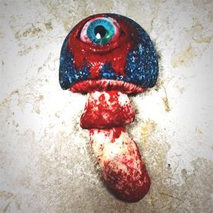 Eyeball Mushroom:ブローチ/ ギョロ目玉茸:ソンビ兄弟(兄):ホイホイレコードだけ販売|hoyhoy-records