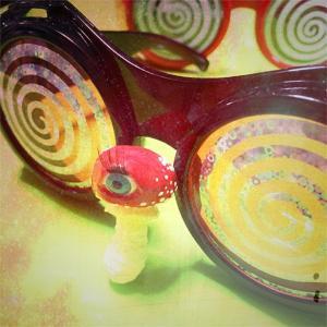 Eyeball Mushroom:ブローチ/ ベニテング目玉茸:長女 シャーロット:ホイホイレコードだけ販売|hoyhoy-records