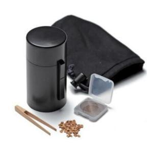 松栄堂の電池式香炉 ひとたき香炉 こづつ 黒