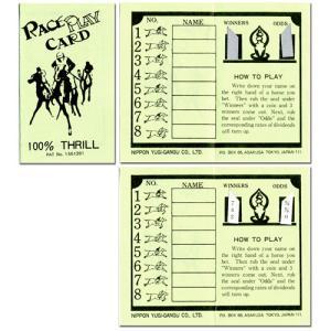 【※正規品※】懐かしの紙競馬!RACE PLAY CARD ENGLISH VER ダービーレースカード(30枚入り)英語版 G4244 hrtg