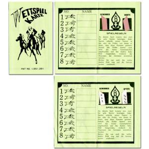【※正規品※】懐かしの紙競馬!WETTSPIEL KARTE ダービーレースカード(30枚入り)ドイツ語版 G4246|hrtg