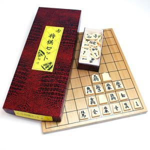 【将棋入門に最適】将棋セット プラスチック駒・6号木製将棋盤|hrtg