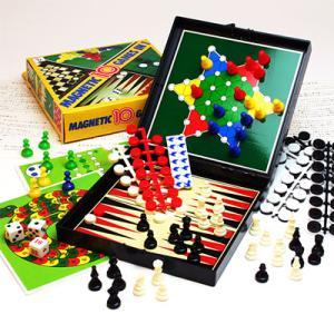 いつでもどこでも!アナログゲームで遊ぼう!【MAGNETIC 10GAMES IN 1】マグネット付テンゲーム|hrtg