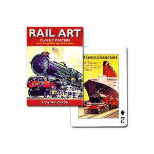 【鉄道グッズコレクターもクラシックポスターファンも必見!】トランプ レイル・アート クラシックポスター hrtg