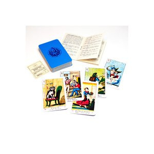 今は無きイタリアのカードメーカーMASENGHINI社が製作したトランプ占い用のカード。 版画を思わ...