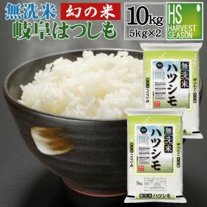 無洗米 5kg×2袋 岐阜県産 はつしも 10kg ポイント3倍 29年産 送料無料