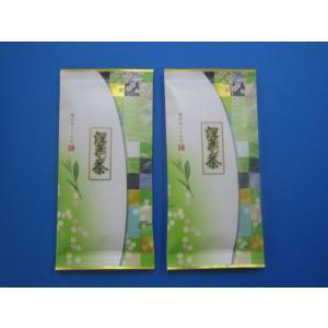お買い得品! 『静岡茶 深蒸し茶』100g詰×2袋   送料無料、クリックポスト発送です   深蒸し...