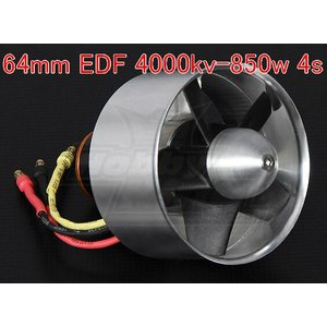 Hobbyking 64mm  EDF 4000kv - 850w (4s - Outrunner Version)